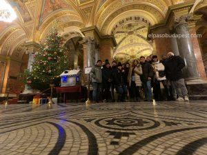 Turistas en Free Tour Budapest año 2019 Diciembre 12 jueves tour de las 14:30 hrs dentro de la ópera nacional de Hungría