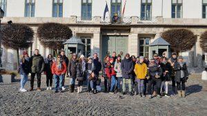 Turistas de Free Tour Budapest en 2020 Enero 08 miércoles tour de las 10:30 hrs frente al palacio del presidente de Hungría