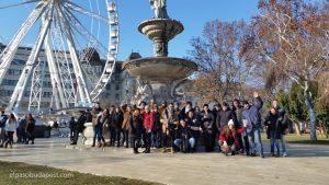 Divirtiéndose en el Free Tour de Budapest en 2020 Enero 11 Sábado de las 10:30 hrs junto a la fuente Danubius plaza Erzsébet