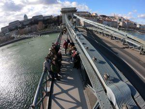 Free Tour de Budapest por la mañana 2020 Febrero 02 Domingo tour de las 10:30 puente de cadenas Budapest foto desde lo alto