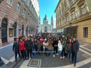 Grupo de Free Tour Budapest en 2020 Febrero 15 Sábado tour de las 10:30 horas en el paseo de las estrellas de Budapest
