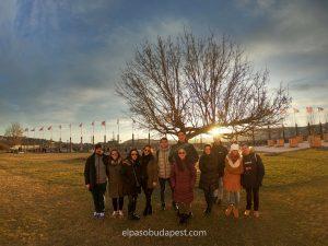 Grupo de Free Tour en español por la tarde el año 2020 Febrero 22 Sábado tour de las 14:30 horas en el distrito del castillo