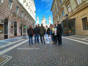 Miembros de Free tour Budapest en español 2020 Marzo 02 Lunes tour de las 14:30 horas en el paseo de las estrellas de Hungría
