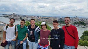 Jóvenes en Free tour Budapest en 2020 Julio 17 Viernes tour de las 10:30 horas en el mirador del castillo de Buda