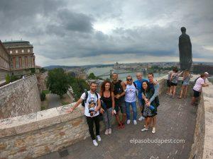 Grupo del Free tour Budapest en 2020 Agosto 05 Miércoles tour de las 10:30 horas en el mirador del castillo de Buda