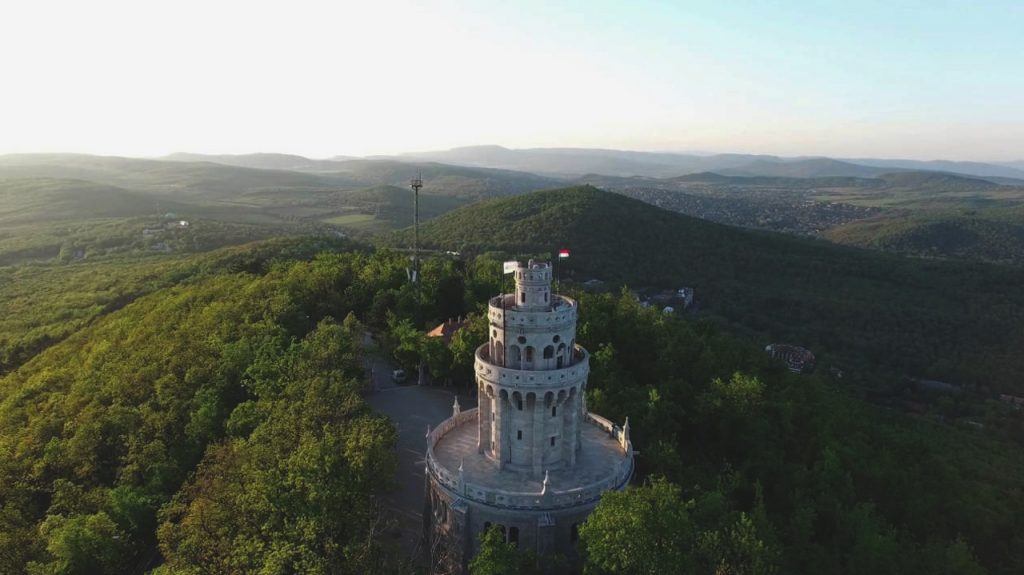 Erzsébet-kilátó mirador de sissi en la parte más alta de Budapest