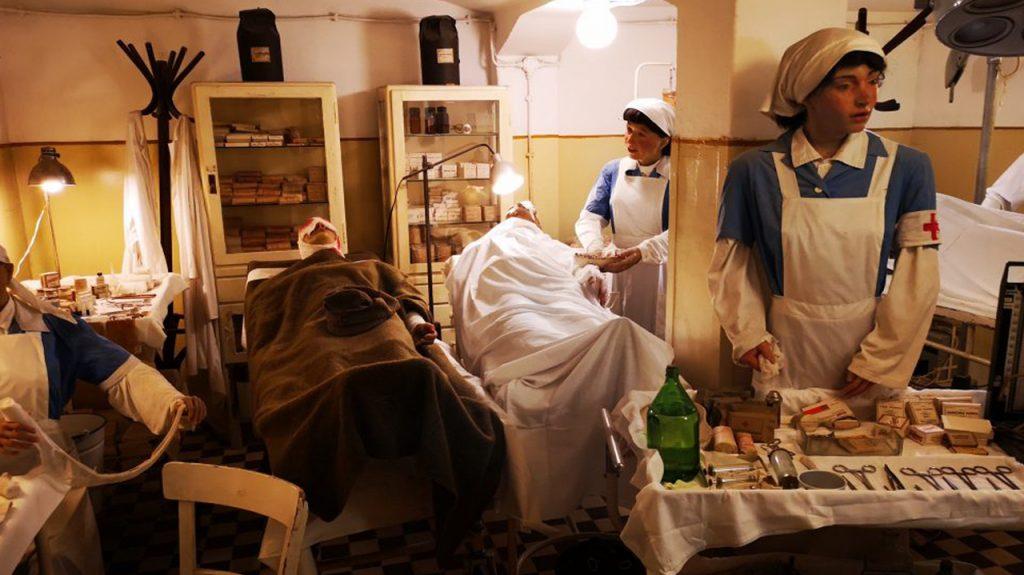 Hospital en la roca museo en Budapest