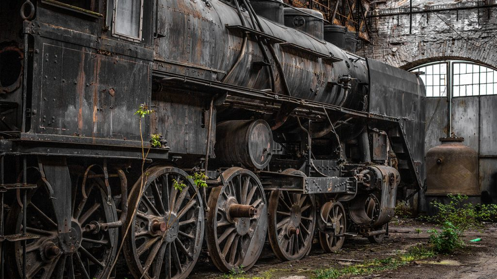 Istvántelki főműhely taller de trenes abandonados